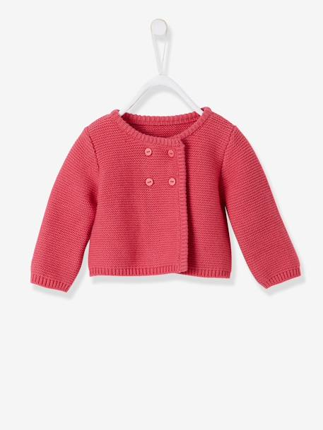 Baby Tunic + Leggings + Knitted Cardigan Pink