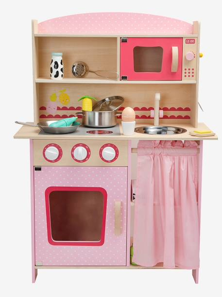 Wooden Kitchen PINK MEDIUM 2 COLOR/MULTICOL