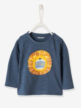 Click to view product details and reviews for Long Sleeved Top With Animals For Baby Boys Blue Dark Solid With Design.