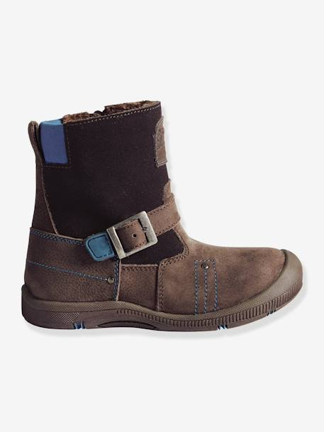 Boys' Fur-Lined Boots, Designed for Autonomy Chocolate