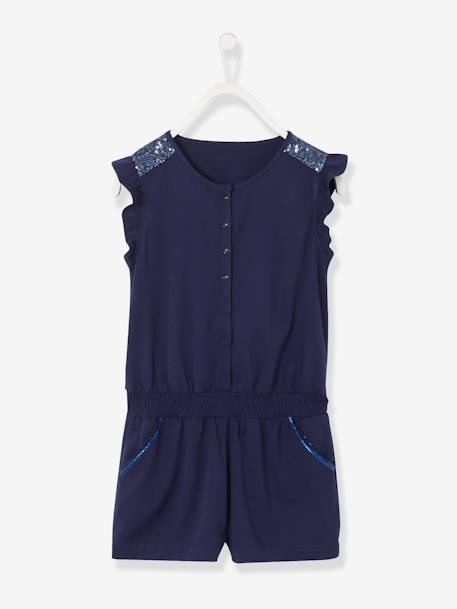 Girls' Playsuit with Sequins Ink