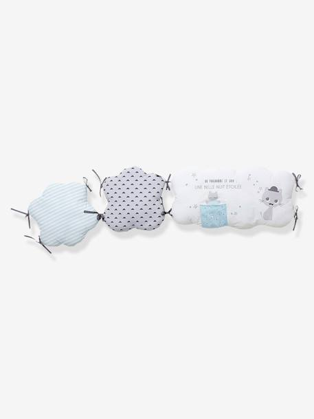 Adjustable Cot Bumper, Cat Theme CATNIP