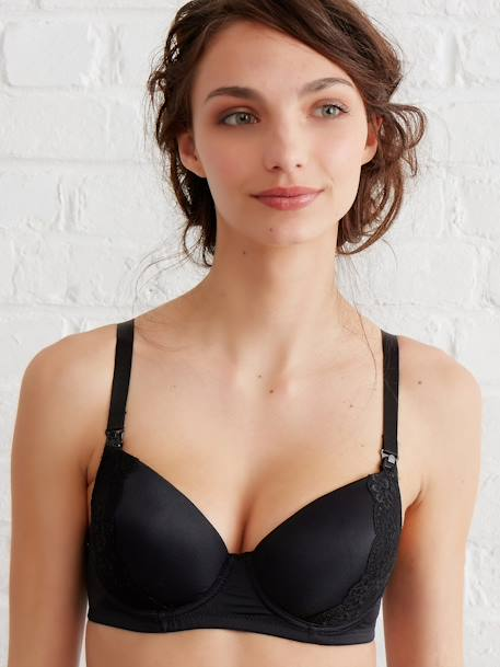 Body Sculpting Nursing Bra Black+Ivory