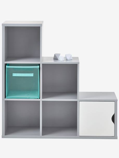6-Box Storage Unit Grey+White