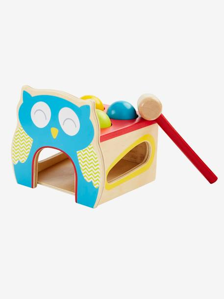 Wooden Knock-out Owl Game Muticolour