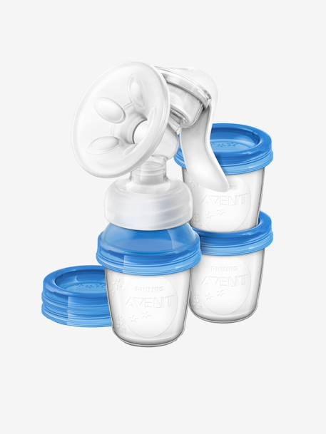 PHILIPS AVENT Natural Breast Pump & Storage Cups Set Clear / blue