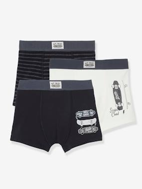 Click to view product details and reviews for Pack Of 3 Stretch Boxer Shorts Skateboards For Boys Black Dark 2 Color Multicol.