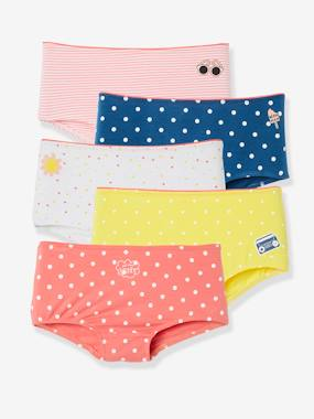 Click to view product details and reviews for Pack Of 5 Stretch Shorties For Girls Pink Medium 2 Color Multicol.