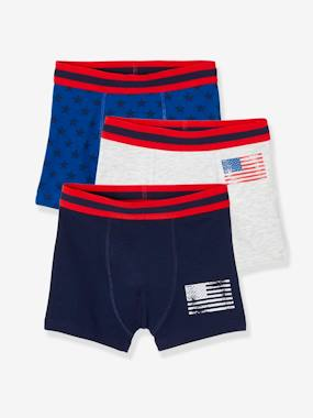 Click to view product details and reviews for Pack Of 3 Boxer Shorts For Boys Usa Light Grey.