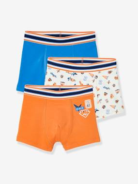 Click to view product details and reviews for Pack Of 3 Stretch Boxer Shorts Retro For Boys Blue Dark Two Color Multicol.