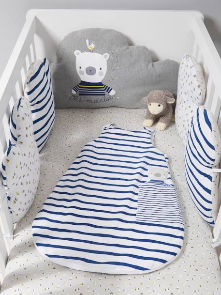Summer Baby Sleep Bag, Fun Sailor Theme White/navy