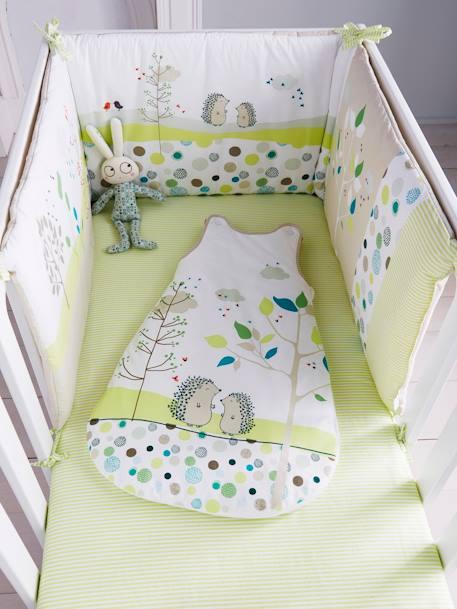 embroidered cot bumper picnic theme furniture bedding. Black Bedroom Furniture Sets. Home Design Ideas