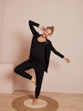 Click to view product details and reviews for Maternity Nursing Loungewear 3 Piece Kit Black.