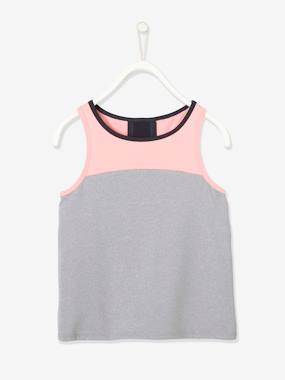Sleeveless Top For Sports For Girls Grey Dark All Over Printed