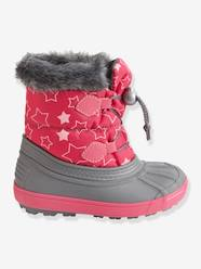 Shoes-Girls Footwear-Boots-Girls' Lace-Up Snow Boots with Fur Lining
