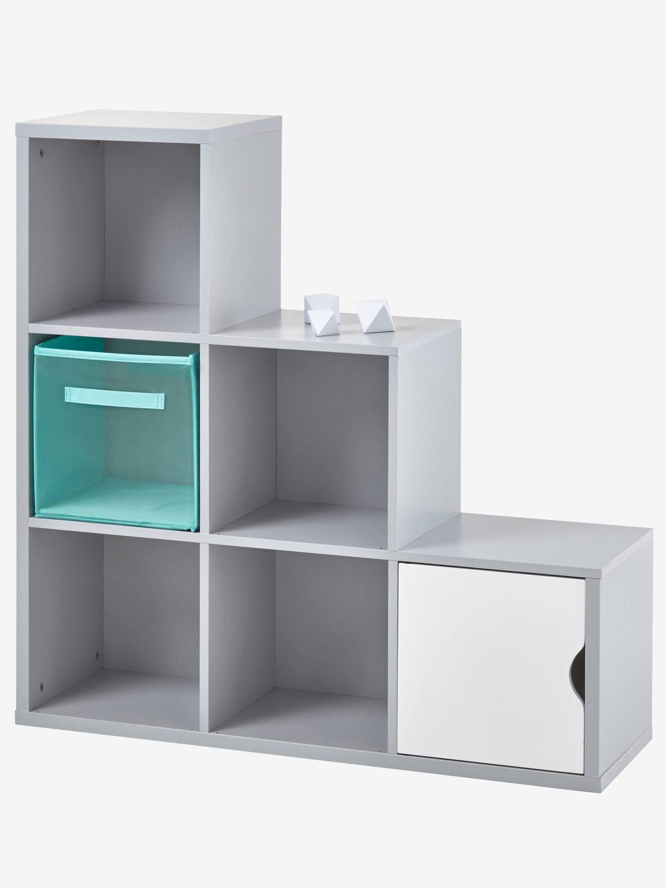 6 Box Storage Unit Grey+White