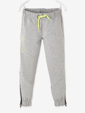 Click to view product details and reviews for Joggers In Techno Fleece For Boys Grey Light Mixed Color.