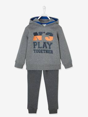 Click to view product details and reviews for Sports Combo Fleece Hoodie Joggers For Boys Blue Bright Solid With Design.