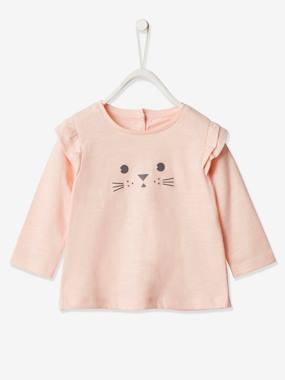 Click to view product details and reviews for Long Sleeved Top With Ruffles For Baby Girls Pink Light Solid With Design.