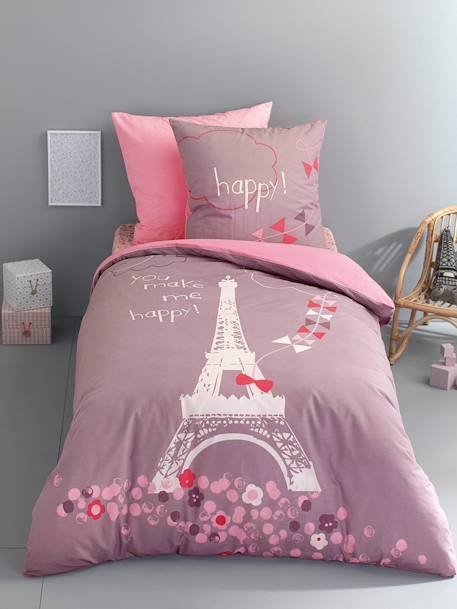 Children's Fitted Sheet, A Night in Paris Theme PARISIAN