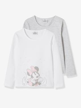 Click to view product details and reviews for Pack Of 2 T Shirts For Girls Disney® Minnie White Light Solid With Design.