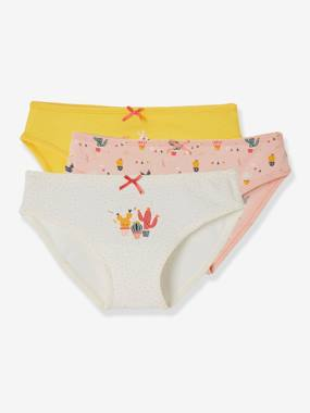 Click to view product details and reviews for Pack Of 3 Briefs For Girls Yellow Medium Solid Wth Design.