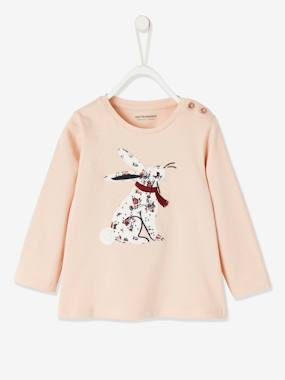 Click to view product details and reviews for Long Sleeve Top For Baby Girls Pink Light Solid With Design.