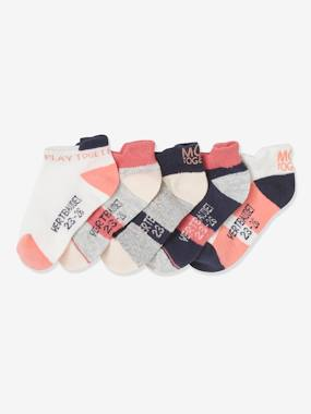 Click to view product details and reviews for Pack Of 5 Sports Trainer Socks For Girls Pink Medium 2 Color Multicol.
