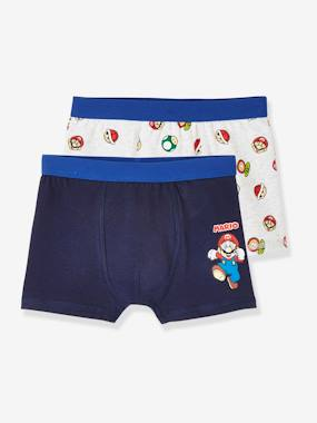Click to view product details and reviews for Pack Of 2 Stretch Boxers For Boys Super Mario® Blue Medium Two Color Multicol.