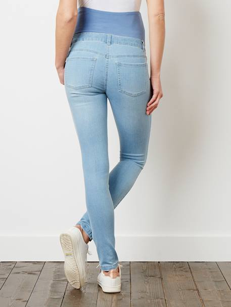 Maternity Slim Stretch Jeans - Inside Leg 30' Black+BLUE DARK WASCHED+Double stone+Light grey denim+Untreated