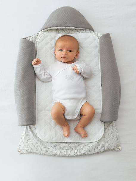 2-in-1 Adaptable Baby Nest Grey+Ink