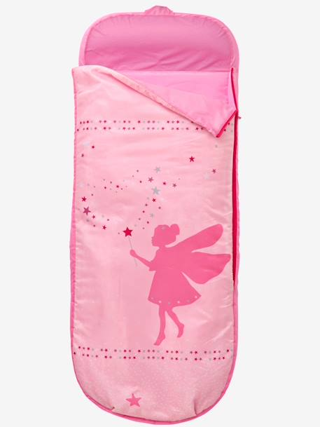 Readybed® Sleeping Bag with Integrated Mattress, Fairy Theme Pink/fairy print