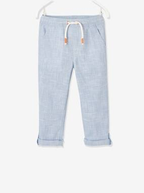 Click to view product details and reviews for Trousers Convert Into Cropped Trousers In Lightweight Fabric For Boys Light Blue.
