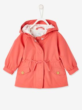 Click to view product details and reviews for Hooded Parka For Baby Girls Orange.