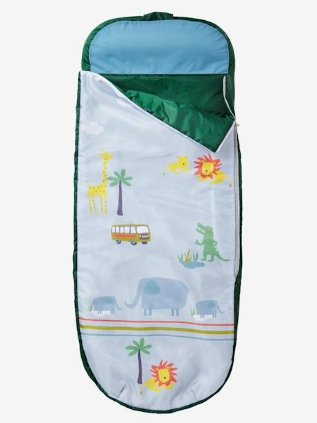 Readybed® Sleeping Bag with Integrated Mattress, Jungle Theme Safari print