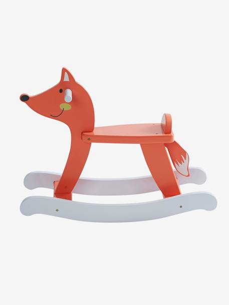 Wooden Fox Rocker Muticolour