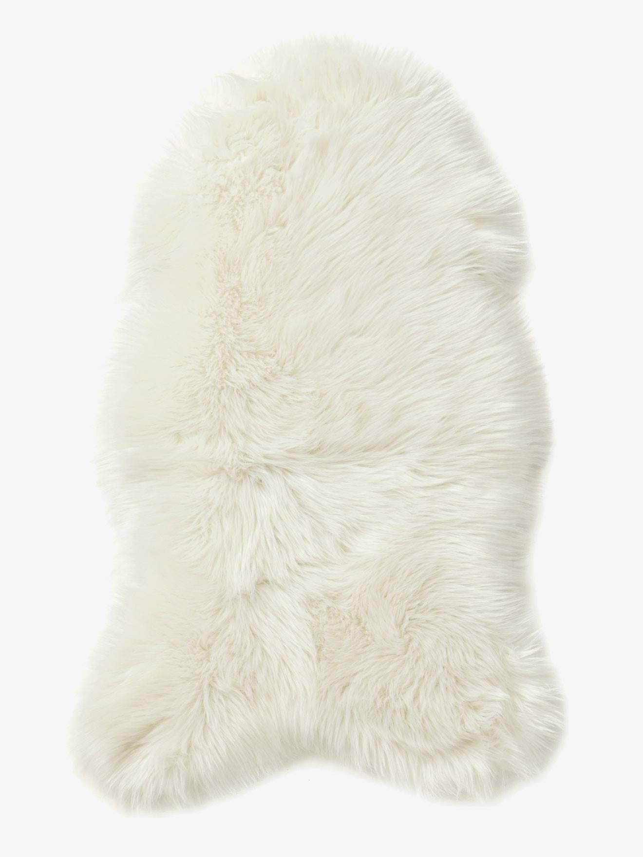 Faux Sheepskin Rug white Storage Decoration Vertbaudet