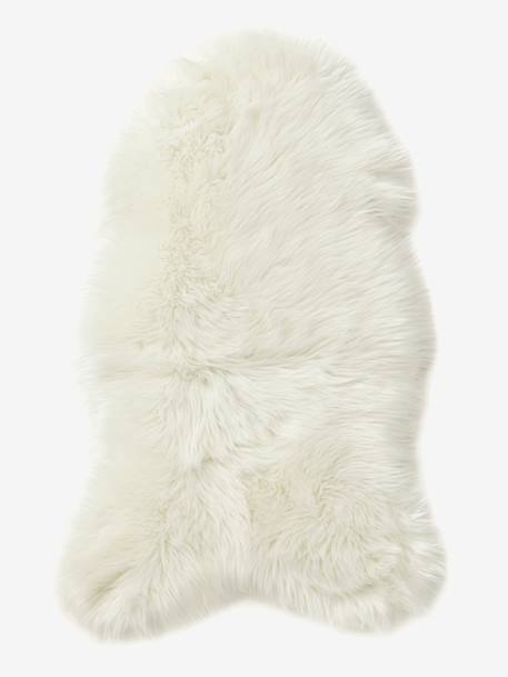 Faux Sheepskin Rug PINK MEDIUM SOLID+White