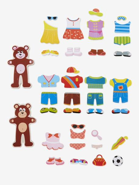 Magnetic Dress-up Bear Game Muticolour