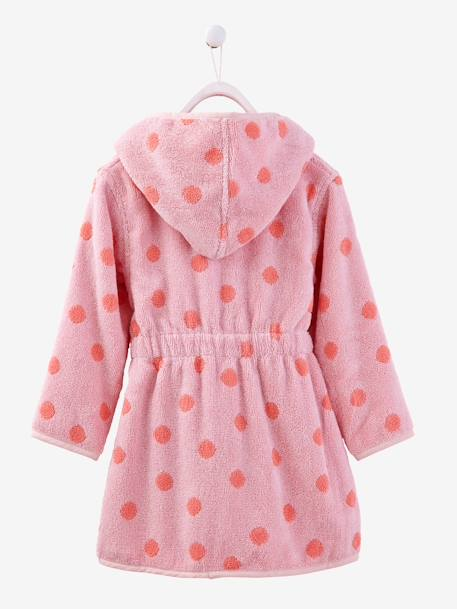 Child's Hooded Bathrobe Blue/stars+Green/cloud+Grey/stars+PINK MEDIUM ALL OVER PRINTED+Pink/polka dot+Violet/heart+Yellow/white striped