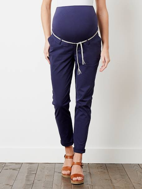 Maternity Chino Trousers, Inside Leg 32 cm Ink