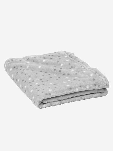 Star Printed Microfibre Blanket Blue+Grey / stars+PINK LIGHT ALL OVER PRINTED