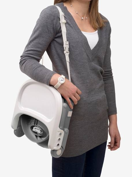 Pocket Snack Booster Seat, by CHICCO GREY MEDIUM SOLID