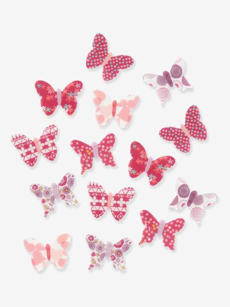 Pack of 14 Butterfly Decorations Pink / print