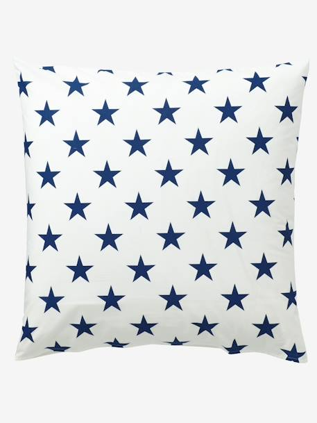 Duvet Cover + Pillowcase Set, Explorer Theme Blue/ecru