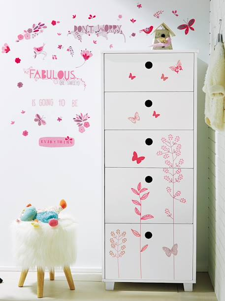 Pack of Butterfly & Flower Stickers Multicolour