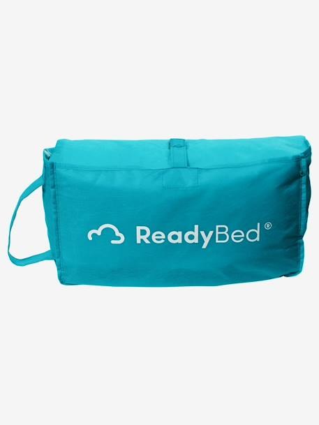Readybed® Sleeping Bag with Integrated Mattress & Headboard, Knight Theme Green/knit print