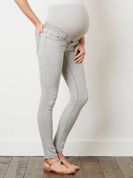 Maternity Slim Strech Jeans - Inside Leg 33' Black+BLUE DARK WASCHED+Double stone+Light grey denim+Untreated