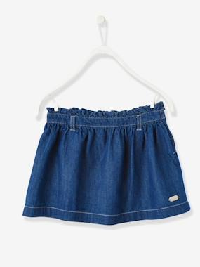 Click to view product details and reviews for Girls Chambray Skirt Denim Blue.