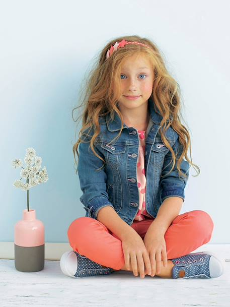 Girls Denim Stretch Jacket Stone